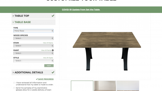 Customize Your Table