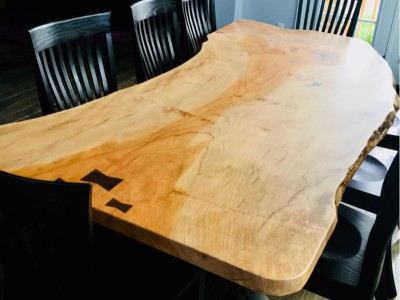 Sycamore Live Edge in Natural Finish